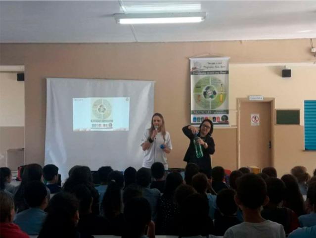 Escola Padre Symphoriano Palestra efetuada em 03 períodos atingindo mais de : 740 pessoas
