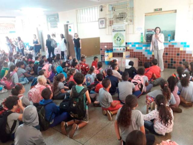 Escola Lourdes Gobi  Palestra efetuada em 03 períodos atingindo mais de : 580 pessoas