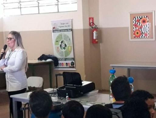 Escola Antonio Raminelli– Palestra efetuada em 02 períodos atingindo mais de: 970 pessoas